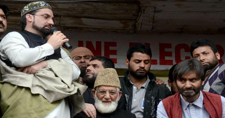 Mirwaiz-Umar-Farooq-Ali-Shah-Geelani-and-Yasin-Malik