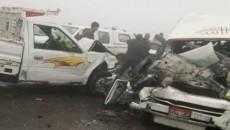 9 killed in car collision on desert highway in Egypt