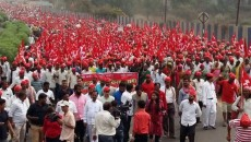 All Indian Kisan Sabha (AIKS) march