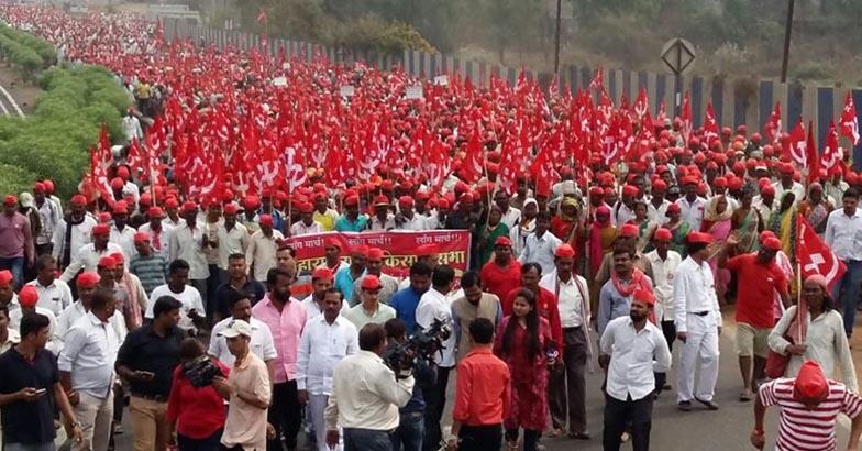 All Indian Kisan Sabha (AIKS) march